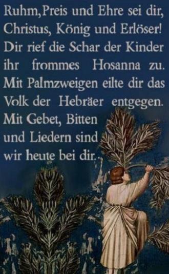 Palmsonntag Bedeutung