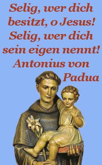 heiliger antonius verlorene sachen gebet