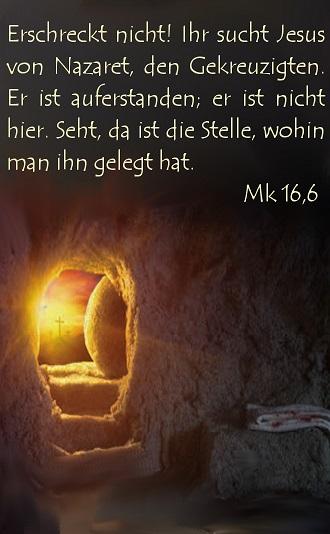 wohin ging jesus nach seiner auferstehung